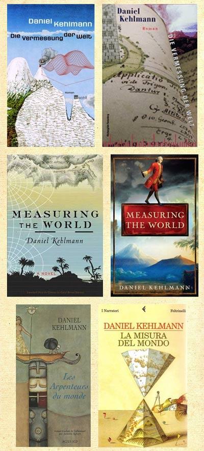 Internationale Covershow zu Daniel Kehlmanns »Die Vermessung der Welt«